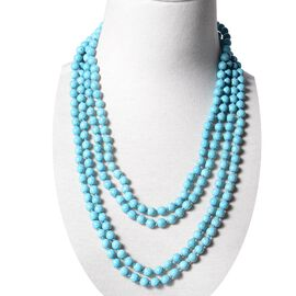 Blue Howlite (Rnd 7-9 mm) Endless Necklace (Size 100) 825.00 Ct.