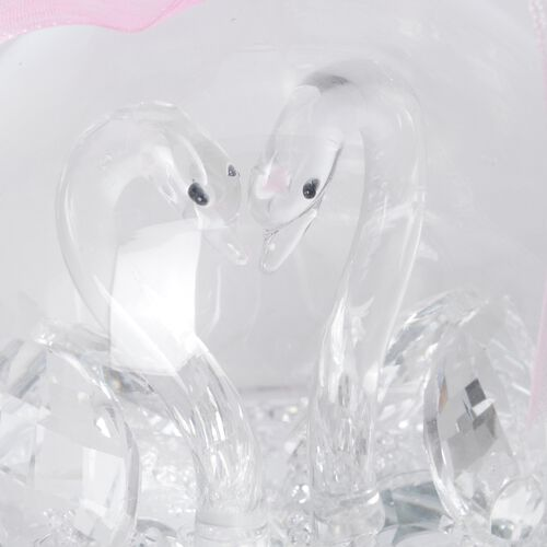 Crystal Ball Decorations - Swan (Size 8 Cm)