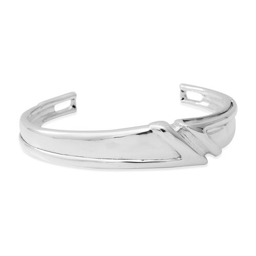 Thai Cuff Bangle in Sterling Silver 13.81 Grams 7 Inch