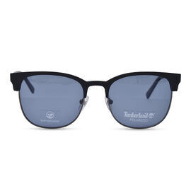 TIMBERLAND Black Clubmaster Sunglasses with Grey Lenses