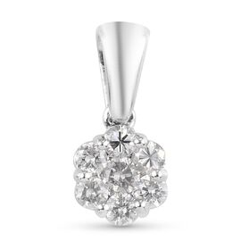9K White Gold SGL Certified Diamond (I2-I3/G-H) Pendant 0.50 Ct.