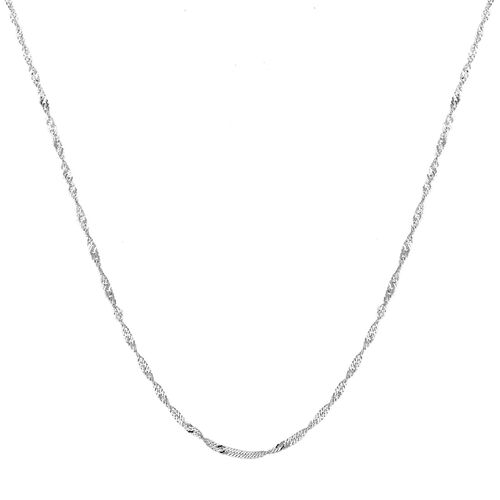 Sterling Silver Twisted Curb Chain (Size 24), Silver wt 4.90 Gms