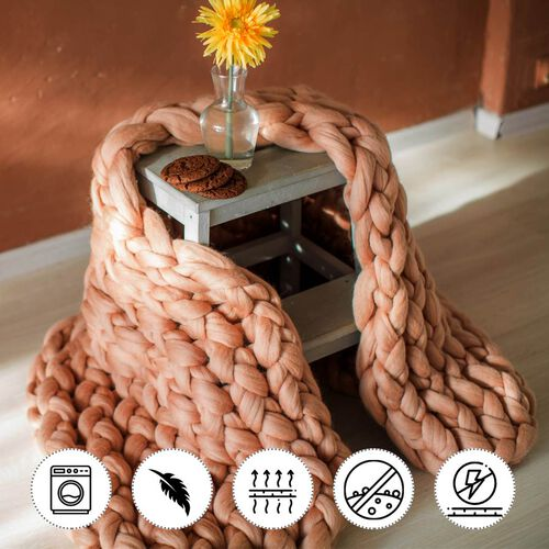 100% Cotton Filled Thick Rope in Brown (760cm)