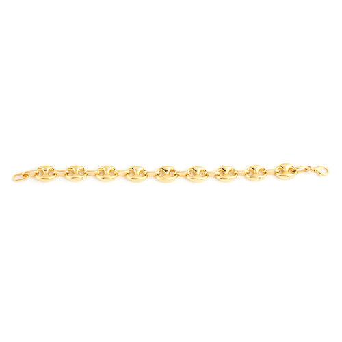 9K Yellow Gold Mariner Bracelet (Size 7.75), Gold wt 10.93 Gms.