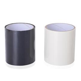 2 Piece Set - Super Strong, Waterproof Flex Tape (Size 150x10 Cm) Black and White Colour