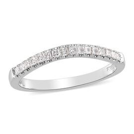 RHAPSODY 950 Platinum IGI Certified Diamond (VS/E-F) Half Eternity Band Ring 0.25 Ct.