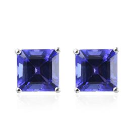 RHAPSODY 950 Platinum AAAA Tanzanite (Oct) Stud Earrings (with Screw Back) 2.50 Ct.