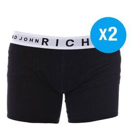 Richmond Mens 2-Pack Boxer Shorts Black