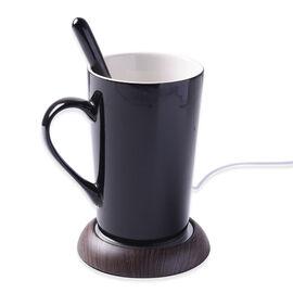 Smart Mug Warmer in Wood Finish (Max Temp. - 80 Degrees)