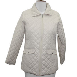 SUGAR CRISP Padded Quilted Jacket (Size 14) - Stone Colour