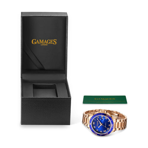 Limited Edition - GAMAGES OF LONDON Hand Assembled Exhibition Automatic Rose - 45mm - Water Resistant 3ATM