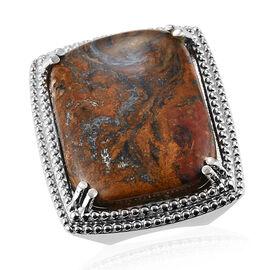 Pietersite Ring in Stainless Steel 39.00 Ct.