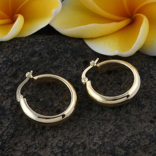 Royal Bali Collection 9K Yellow Gold Hoop Earrings