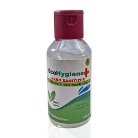 EcoHygiene 100ml Hand Sanitiser Gel - 70% Alcohol Anti Bacterial Gel with Aloe Vera Moisturiser and