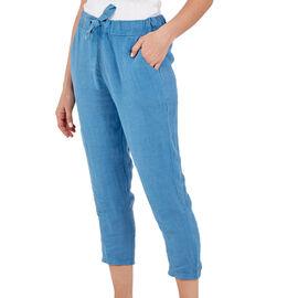 NOVA of London Linen Trousers in Blue (Size 10-16)