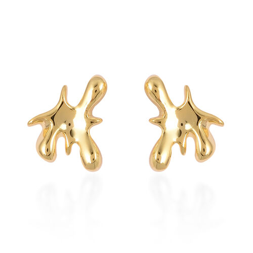 Lucy Q Yellow Gold Overlay Sterling Silver Splash Stud Earrings