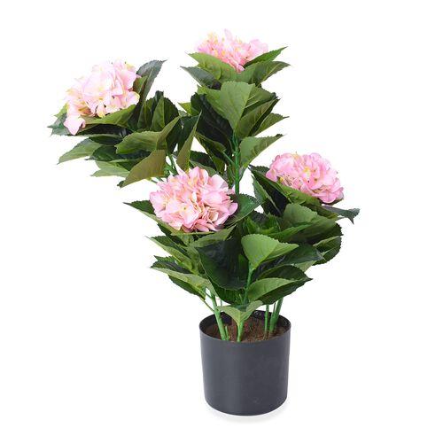 Artificial Hydrangea Plant with Pot - 60 Cm