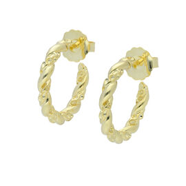 RACHEL GALLEY Lattice Twisted Hoop Earrings in Yellow Gold Plated Sterling Silver