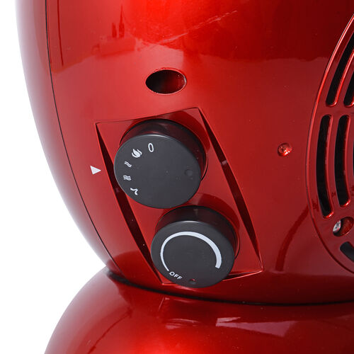 Multi-Function High-Performance Fireplace Retro Look Heater in Red Colour