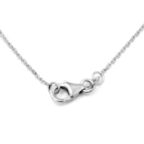 GP - Diamond (Rnd and Bgt), Blue Sapphire Necklace (Size 18) in Platinum Overlay Sterling Silver 0.52 Ct.