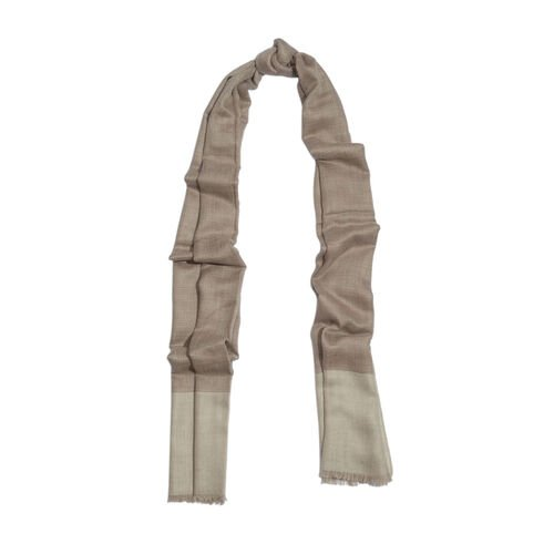 100% Cashmere Wool Chocolate and Beige Colour Shawl (Size 200x70 Cm)