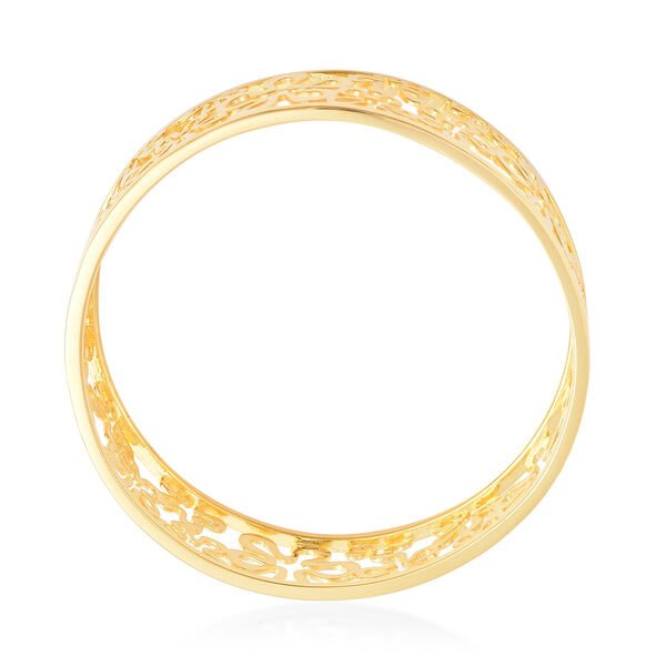LucyQ - Splash Bangle (Size 7.5) in Yellow Gold Overlay Sterling Silver