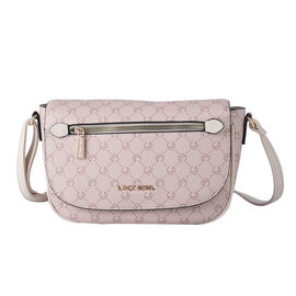 LOCK SOUL Crossbody Bag with Shoulder Strap (Size 26x23x10Cm) - Beige