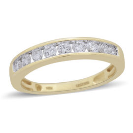 ILIANA 0.50 Carat Diamond Half Eternity Ring in 18K Gold 3.82 Grams IGI Certified