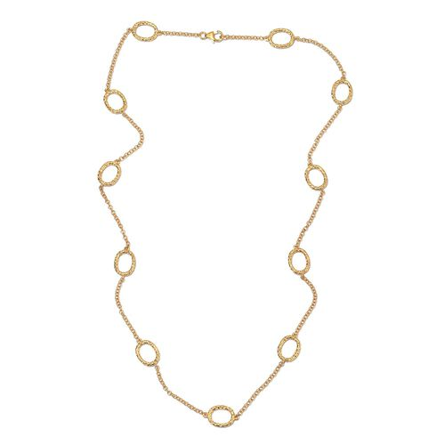 Rachel Galley Station Necklace in Gold Plated Sterling Silver 24 Inch