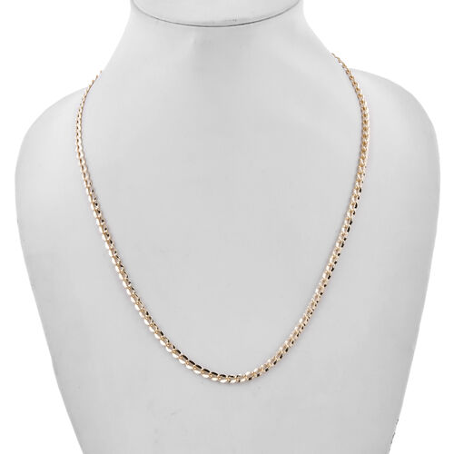 Royal Bali Collection - 9K Yellow Gold Oval Curb Necklace (Size 20), Gold wt 5.16 Gms.