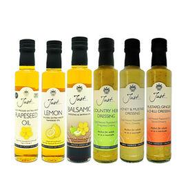 Just Oil 6x250ml (1 x Lemon Oil, 1 x Rapeseed, 1 x Balsamic Dressing and Dipping Oil, 1 x Honey & Mu