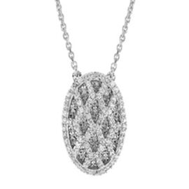 Cubic Zirconia Pendant Necklace in Sterling Silver 16 with 2 inch Extender