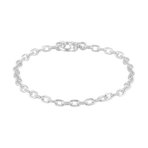 Italian Made - Sterling Silver Bracelet (Size 7.5), Silver wt 5.45 Gms