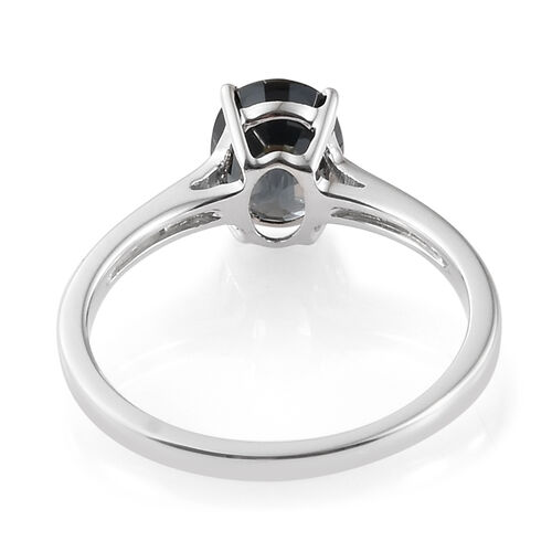 9K White Gold AAA Platinum Grey Spinel (Ovl) Ring 1.500 Ct.