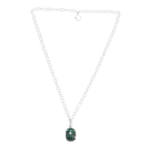 Sundays Child - Malachite, Boi Ploi Black Spinel and Natural Cambodian Zircon Necklace (Size 32) in