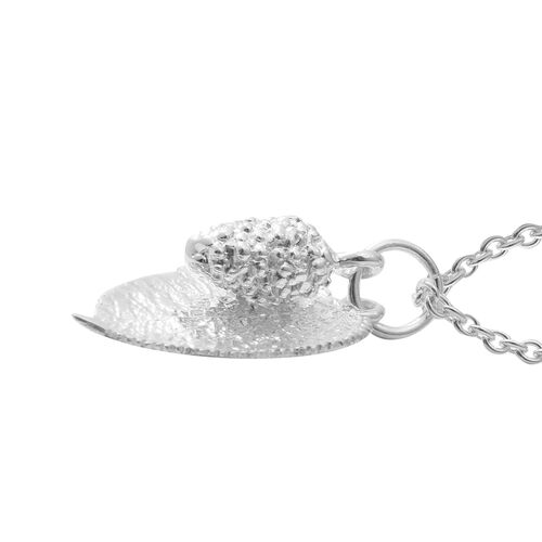 Sterling Silver Mulberry Fruit with Leaves Necklace (Size 20), Silver wt 7.85 Gms.