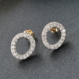 Rachel Galley - 9K Yellow Gold SGL Certified Diamond (I1/G-H) Stud Earrings (with Push Back) 0.30 Ct.
