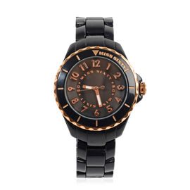 Miss Sixty Glitter Black and Rose Gold Watch