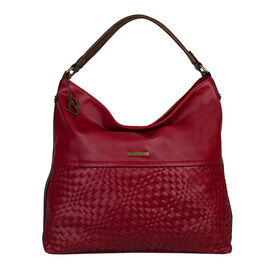 Bulaggi Collection- Bryon Hobo Shoulder Bag (Size 36x36x11 Cm) - Red
