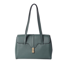 100% Genuine Leather Tote Bag (Size: 34x12x22cm) - Green