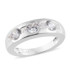ELANZA Simulated Diamond (Rnd) Ring in Sterling Silver .