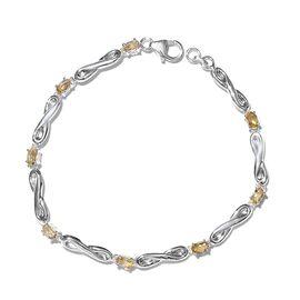 Citrine (Ovl) Bracelet (Size 7.5) in Sterling Silver 2.000 Ct. Silver wt 3.71 Gms.