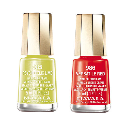Mavala: Versatile Red - 986 & Psychedelic Lime - 985