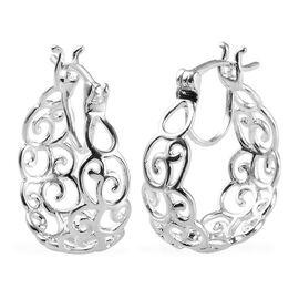 Hoop Earrings in Sterling Silver 3.50 Grams