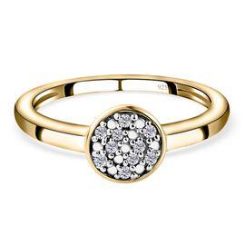 Diamond (Rnd) Ring in 14K Gold Overlay Sterling Silver