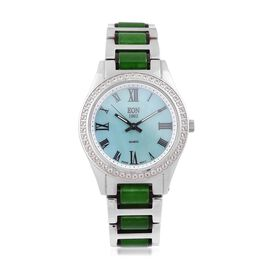EON 1962 - Swiss Movement Green Jade, White Topaz and MOP Watch