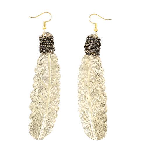Shiny Leaf Hook Earrings