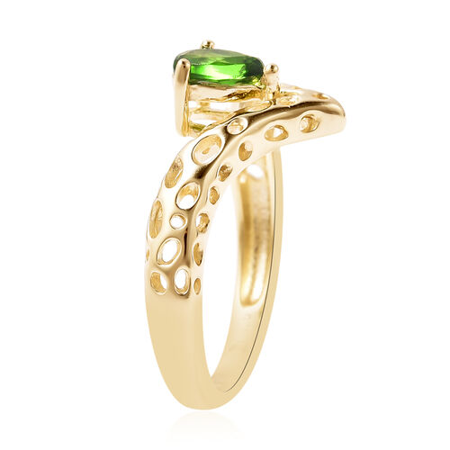 RACHEL GALLEY Chevrolet Collection - Russian Diopside Ring in Yellow Gold Overlay Sterling Silver