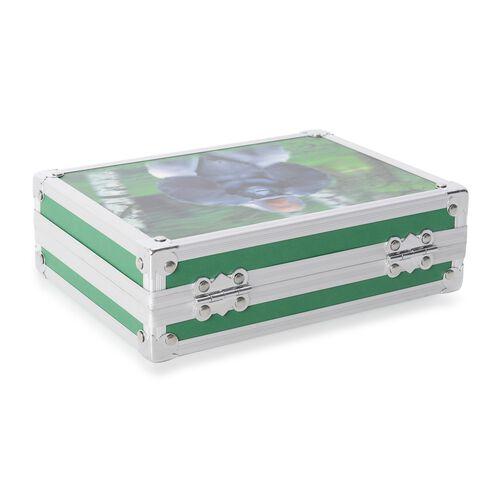 Green Colour 3D Gorilla Painting Jewellery Box (Size 20x15x6.2 Cm)
