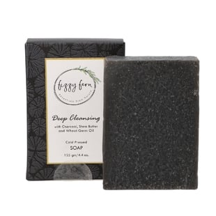 Deep Cleansing Soap with Charcoal, Shea Butter and Wheat Germ Oil, 125 Gm.